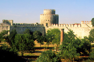 Fortress wall of Constantinople part of Golden Horn