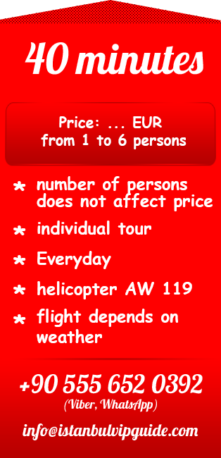 Helicopter tour istanbul 40 minutes price