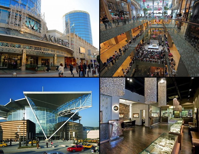Shopping centers, textiles, jewelry in Istanbul
