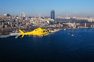 Transfer by helicopter in Istanbul